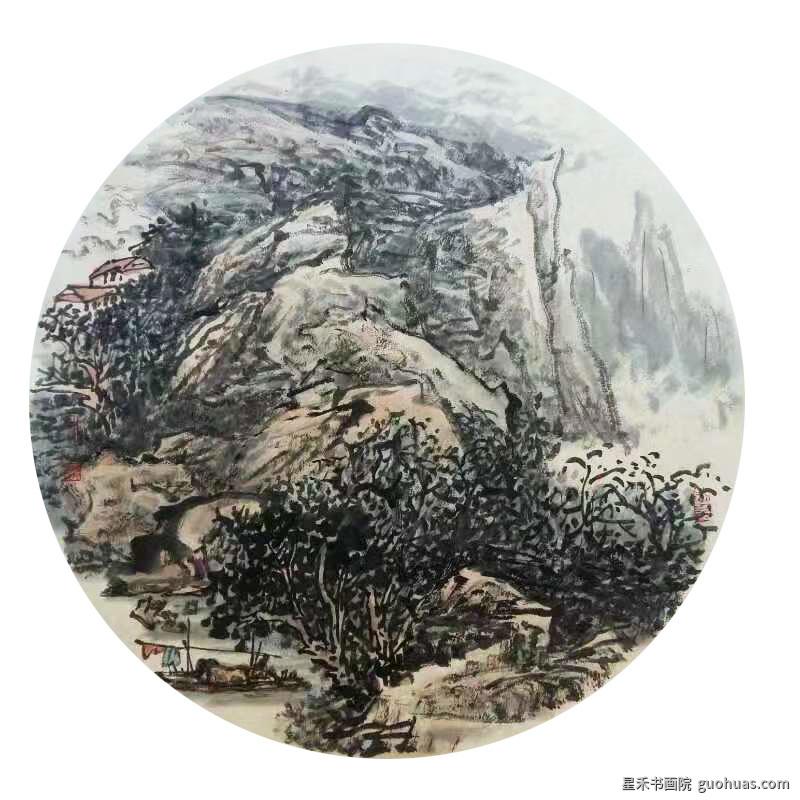 何老师山水画-01