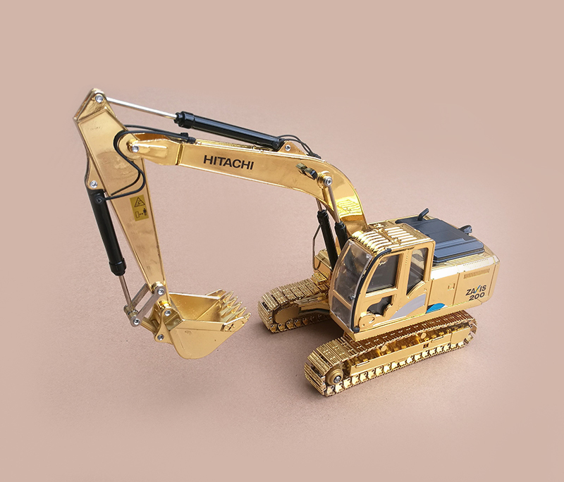 黄金班日立挖掘机模型