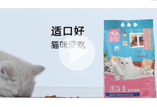 淘宝猫粮主图详情视频案例赏析