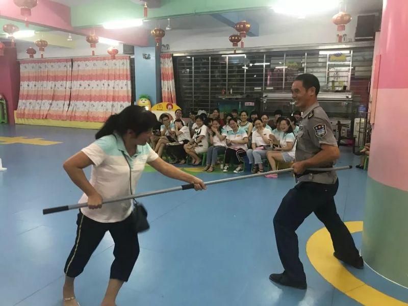 石狮市锦峰幼儿园期初教职工安保器械运用方法培训