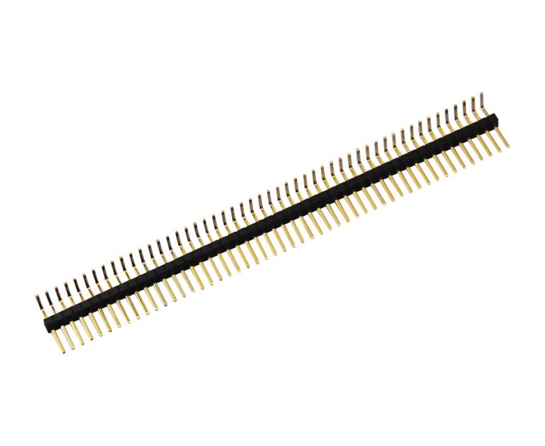 1.27mm pin header 0.4SQ single row  straight