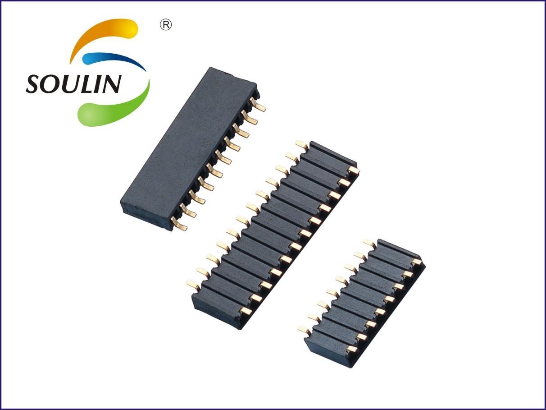 2.54间距 双排侧插排母 10P 2.54MM 双侧母 直插 镀金环保 高度5.9 厂家供应