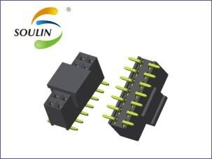 深圳产间距2.54塑胶高7.1MM单排直插排母
