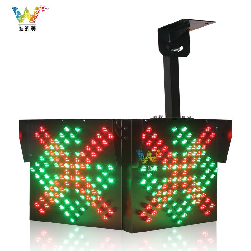 600*600MM双面红叉绿箭雨棚灯
