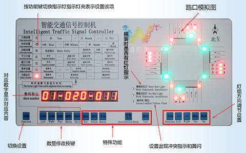 单点式信号机模拟路口480
