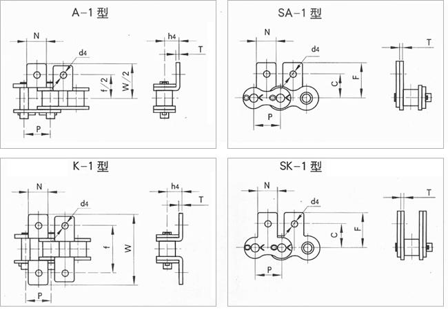 短节距输送用滚子链附件