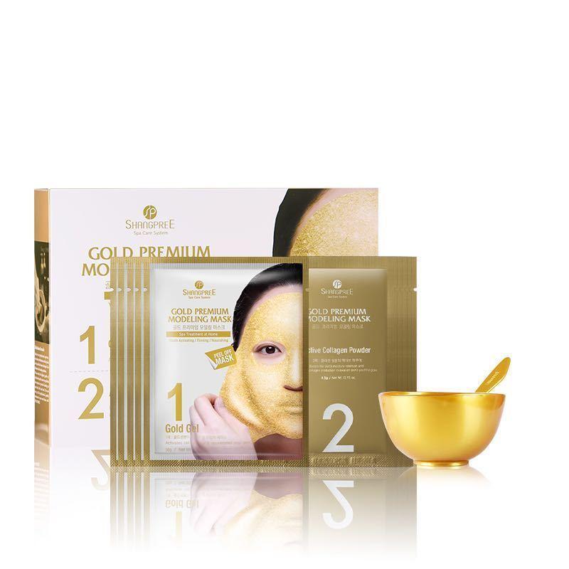【香港直邮】韩国 香蒲丽 黄金水光面膜 (软膜粉) 5组/盒