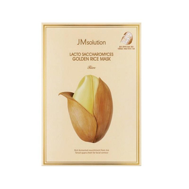 【香港直邮】韩国 JMSOLUTION 酵母乳黄金大米面膜 10片/盒