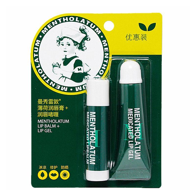 【一般贸易中文版】中国 Mentholatum曼秀雷敦薄荷润唇者喱+薄荷唇膏 (BOGOF Pack)8+3.5