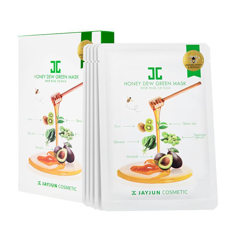 韩国JAYJUN代理 水光绿蔬蜂蜜面膜货源