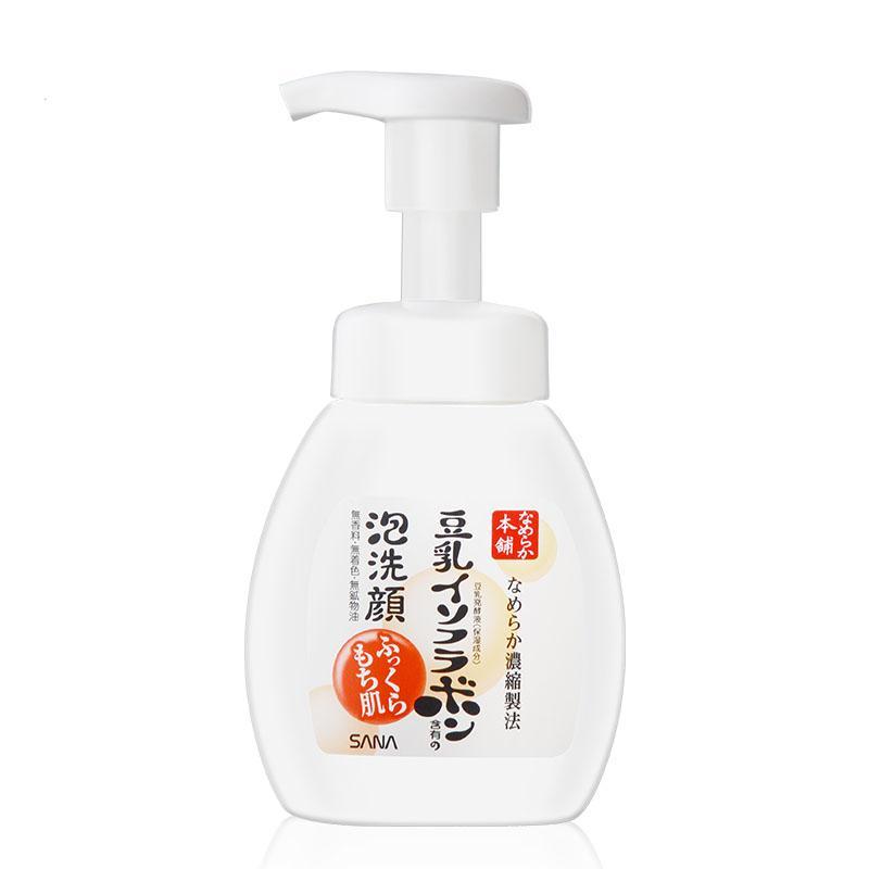 日本莎娜代理  莎娜sana豆乳按压式泡沫洗面奶 洁面乳200ML货源