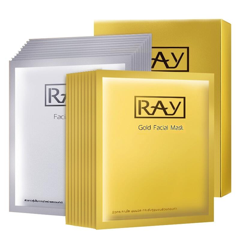 泰国ray代理 ray蚕丝面膜贴金银套装货源