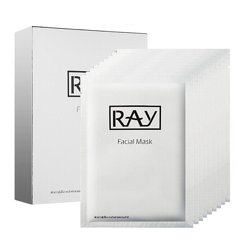 泰国RAY代理  RAY蚕丝面膜银色10片面膜