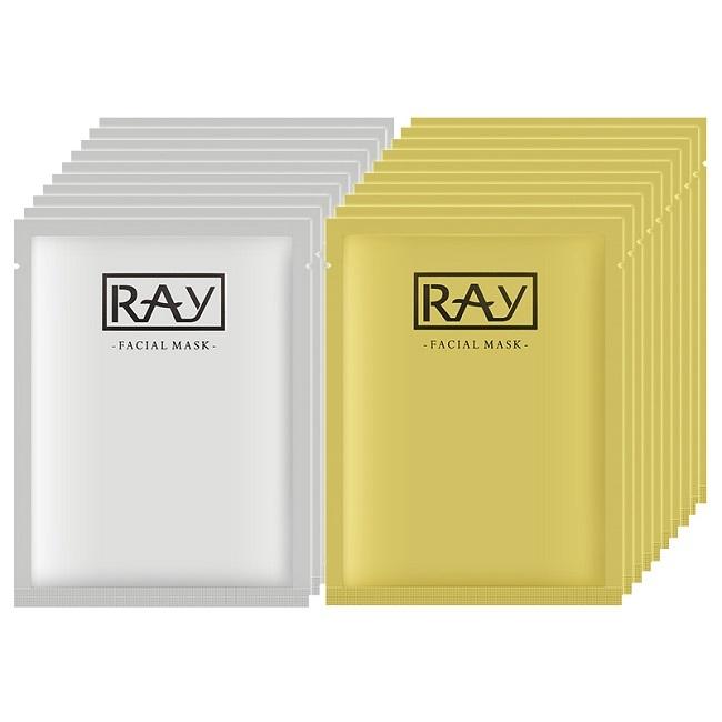 泰国RAY代理 RAY天然蚕丝面膜金银散装货源