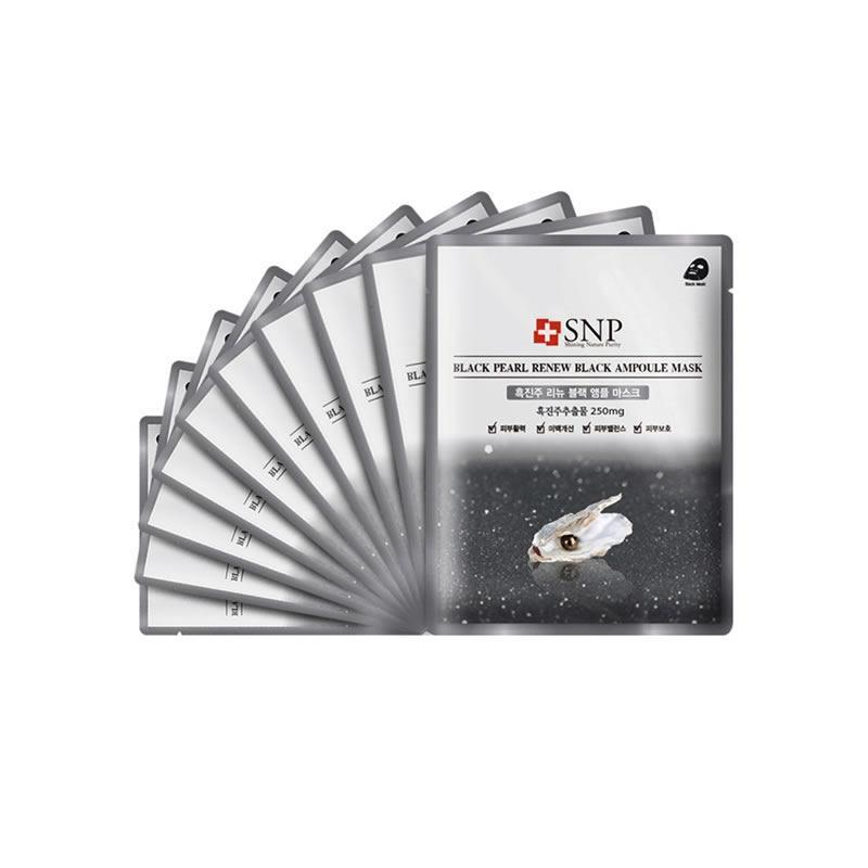 韩国SNP代理 SNP黑珍珠面膜10片/盒货源