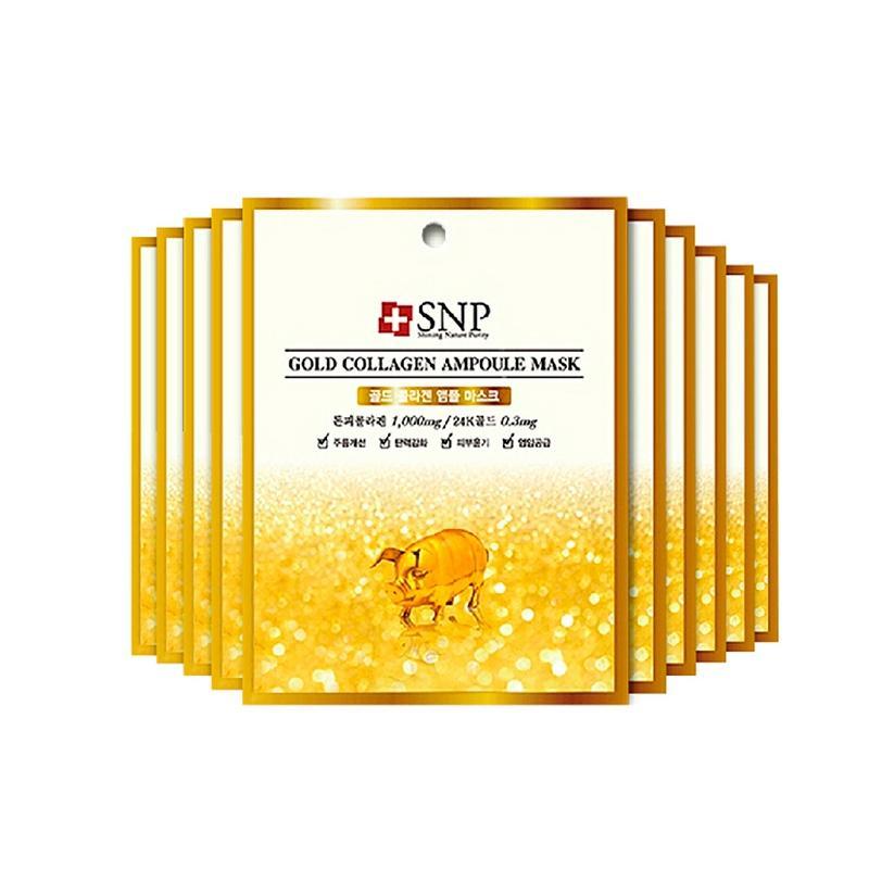 韩国SNP代理 SNP黄金胶原蛋白精华面膜货源
