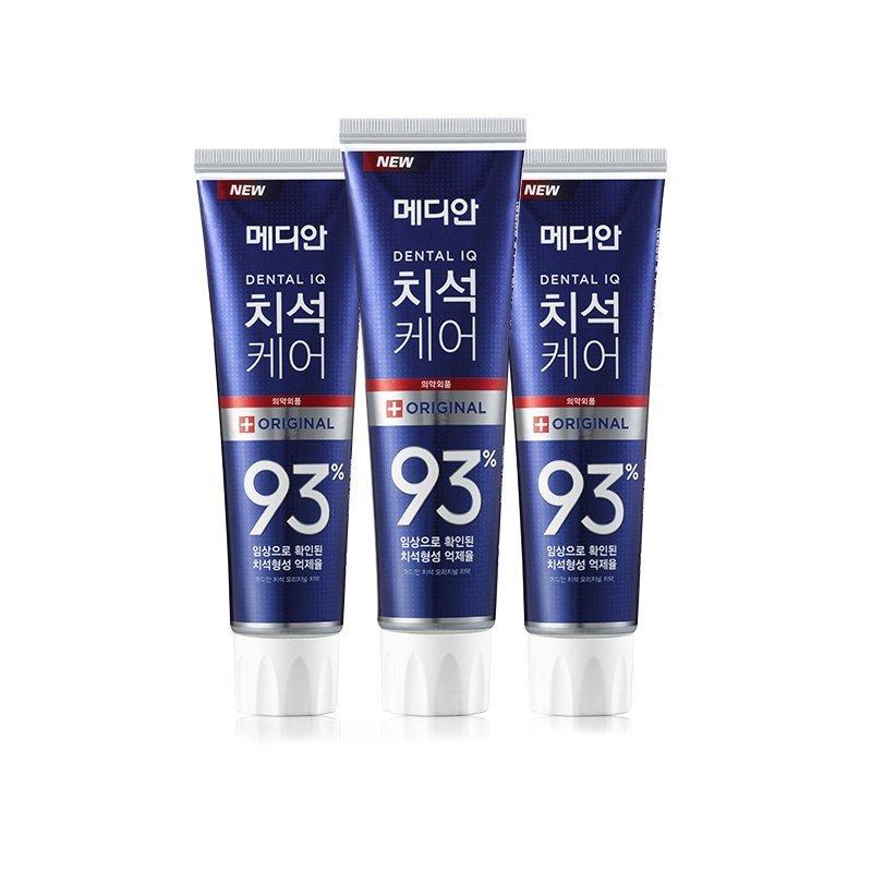 一般贸易货源【中文标】代购韩国麦迪安MEDIAN专业清理93%牙结石惊效变白牙膏薄荷味 蓝色 120g