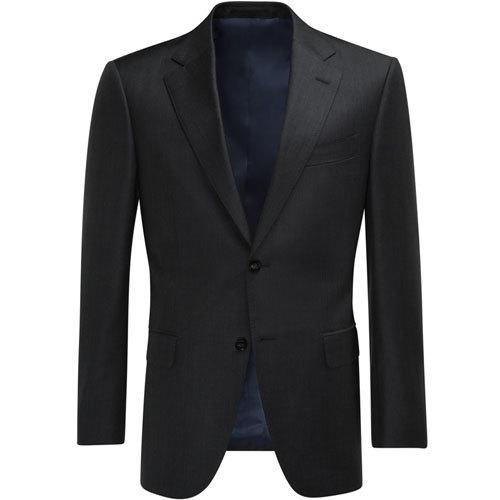男士黑色两粒扣商务修身款经典西服套装