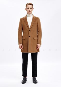 男士驼色羊绒羊毛大衣