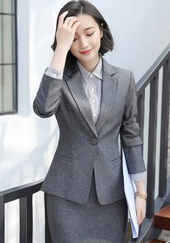 女士 灰色职业装套装