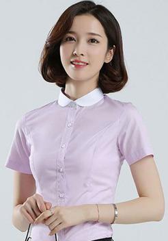 女士圆领短袖衬衫