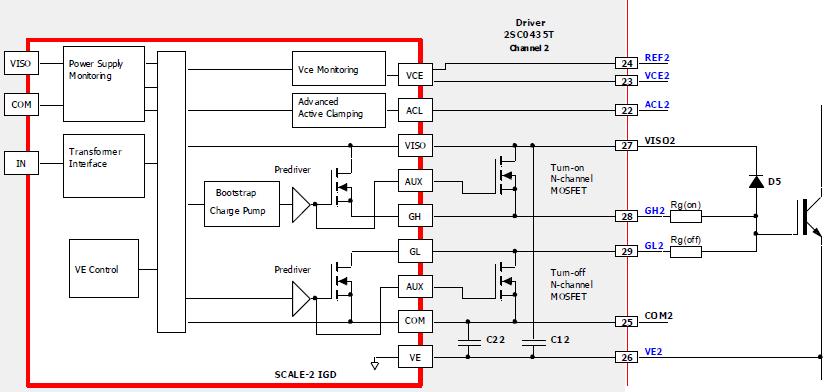 副方芯片的原理框图