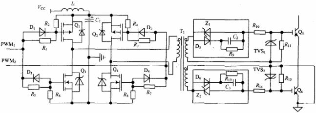 图1 变压器隔离全桥电路