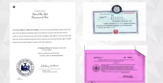 州政府及领事馆认证样本