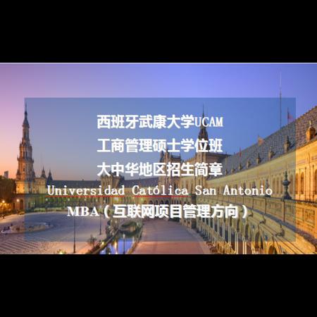 <b>西班牙武康大学MBA(互联网项目管理方向)</b>
