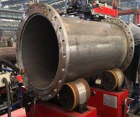 全自動鋼管法蘭焊接設備