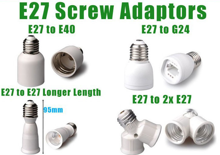 b22 to e27 lamp socket adapters
