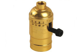 brass lamp holder with switch
