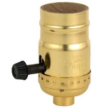 3-Way brass bulb holder with switch
