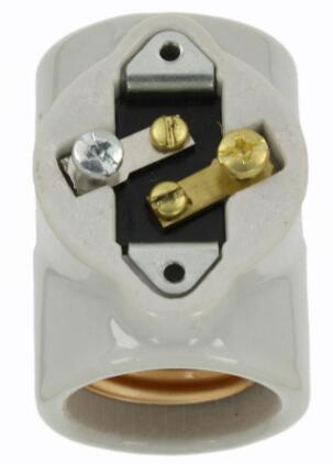 Porcelain Medium e26 socket 660W One-Piece Single Circuit Keyless