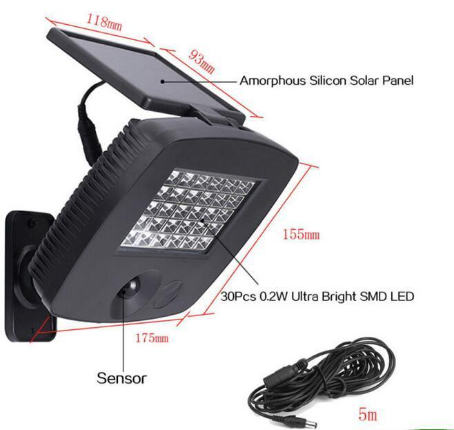 30LED Garage solar sensor light big w with Motion Sensor