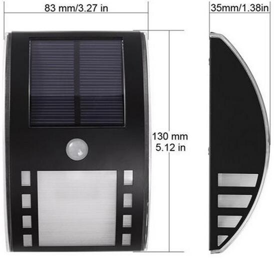 Motion Sensor Security Night mini solar led lights size