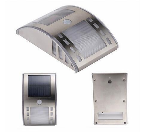 stainless steel solar lights with PIR Body Sensor for garden