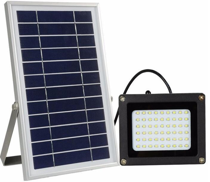 5W 54 LED solar powered flood light with remote control