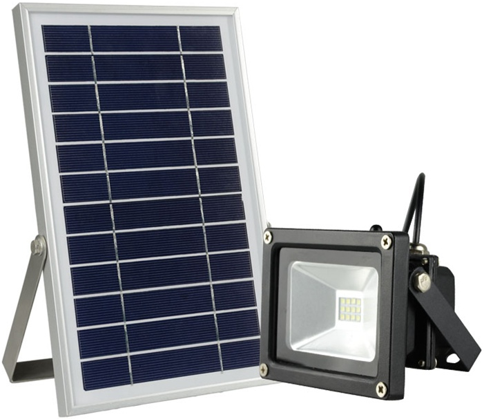 6w solar powered security flood lights