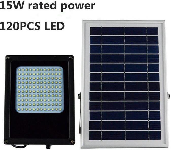 15W solar powered flood lights with on off switch