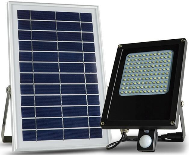 6V*6W Waterproof IP65 120 LED solar sensor flood lights