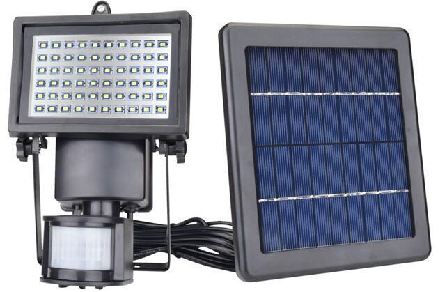 60 LED 3W battery operated outdoor motion sensor flood light