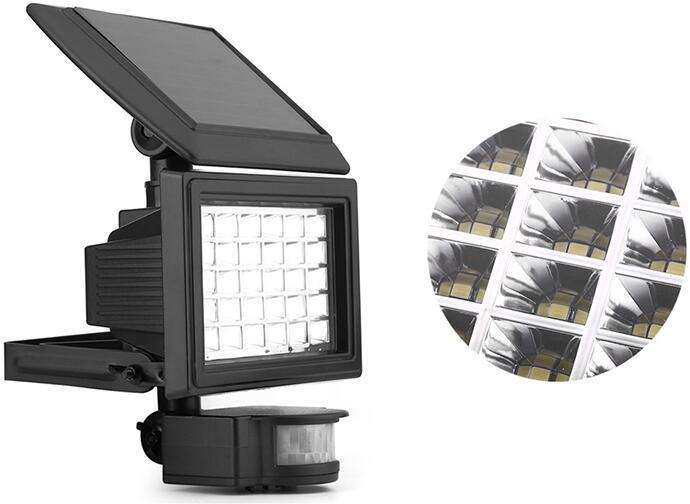 Solar Multifunction led motion activated flood light
