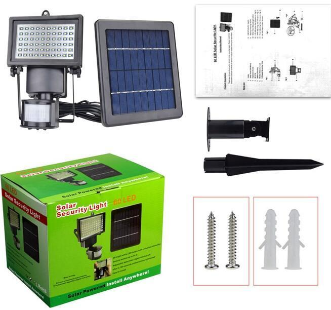 Solar Multifunction led motion activated flood light With Ground Spike