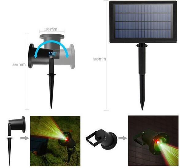 solar powered landscape spotlights for garden Christmas Holiday Decoration