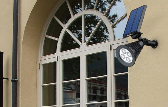 best led solar spot lights outdoor for wall