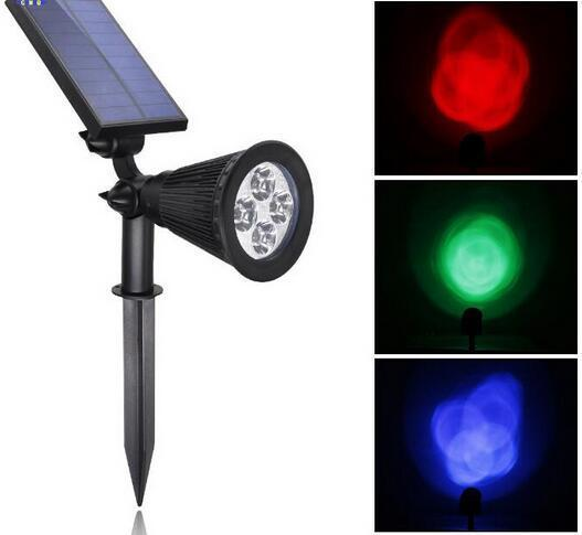 RGB Color Changing colored solar spot lights