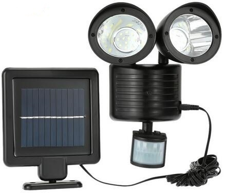 Dual head outdoor motion sensor flood lights