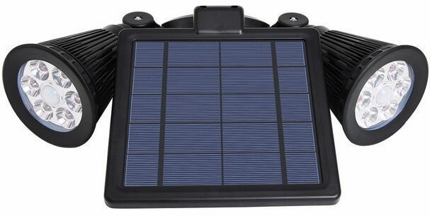 3W solar outdoor motion flood lights