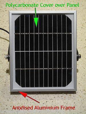 large solar powered outdoor lights panel specification